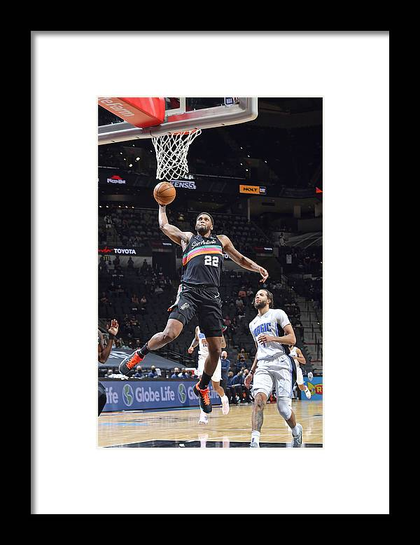 Nba Pro Basketball Framed Print featuring the photograph Rudy Gay by Logan Riely