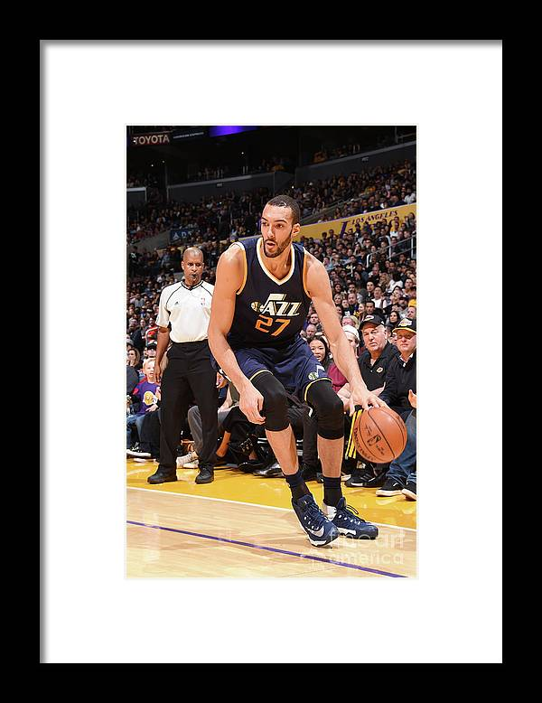 Nba Pro Basketball Framed Print featuring the photograph Rudy Gobert by Andrew D. Bernstein
