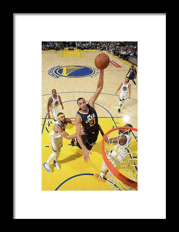 Nba Pro Basketball Framed Print featuring the photograph Rudy Gobert by Noah Graham