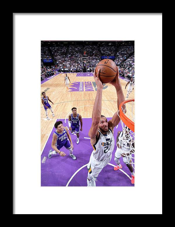 Nba Pro Basketball Framed Print featuring the photograph Rudy Gobert by Rocky Widner