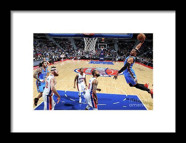 Nba Pro Basketball Framed Print featuring the photograph Russell Westbrook by Chris Schwegler