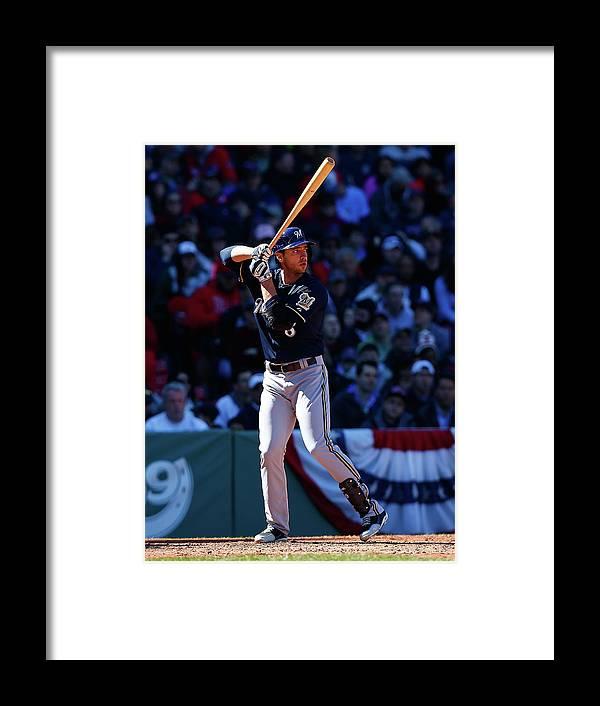 American League Baseball Framed Print featuring the photograph Ryan Braun by Jared Wickerham