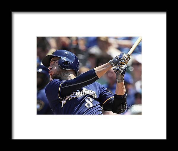 People Framed Print featuring the photograph Ryan Braun by Jonathan Daniel