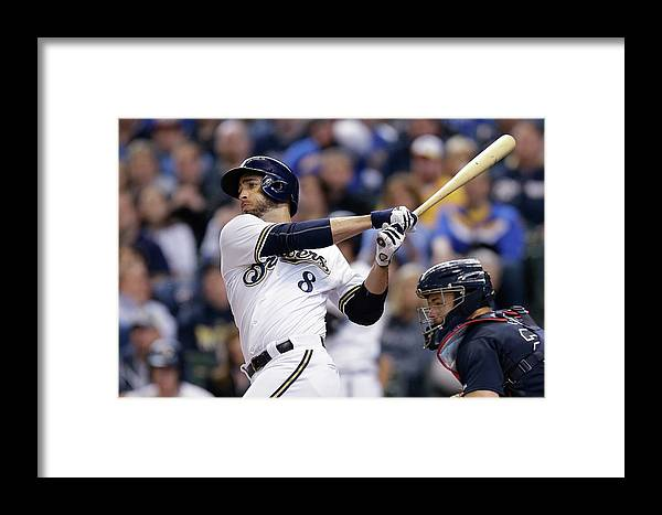 Wisconsin Framed Print featuring the photograph Ryan Braun by Mike Mcginnis