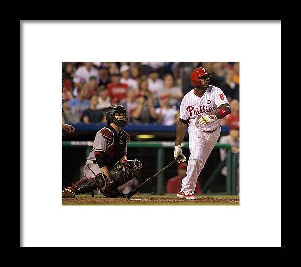 People Framed Print featuring the photograph Ryan Howard by Mitchell Leff