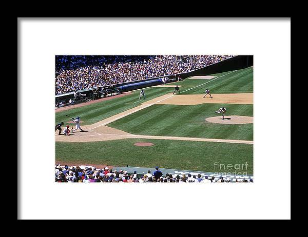 Motion Framed Print featuring the photograph Sammy Sosa by Jonathan Daniel