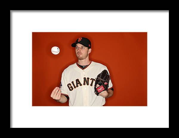 Media Day Framed Print featuring the photograph San Francisco Giants Photo Day by Patrick Smith