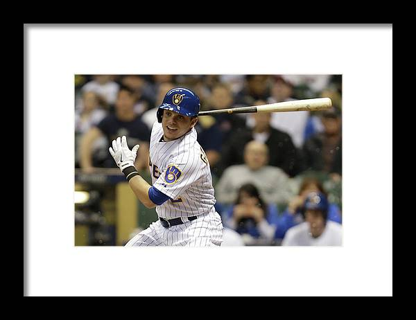 Second Inning Framed Print featuring the photograph Scooter Gennett by Mike Mcginnis