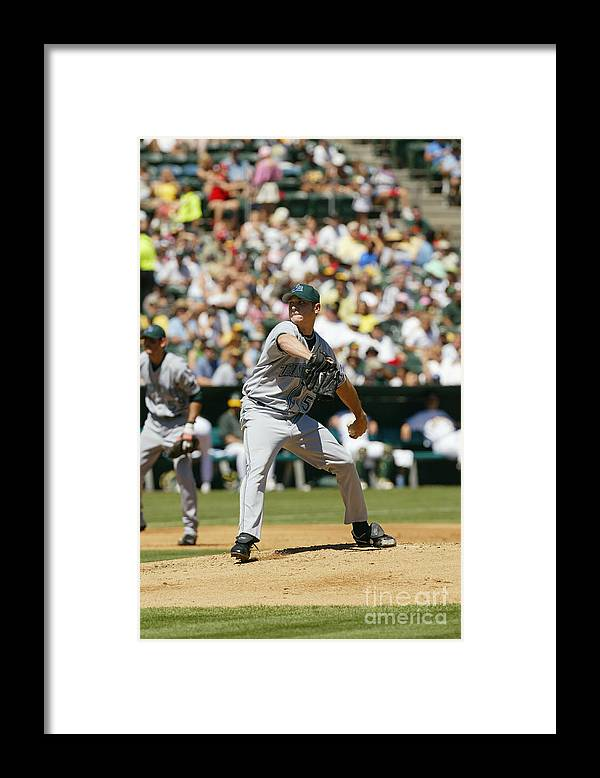 American League Baseball Framed Print featuring the photograph Scott Kazmir by Don Smith