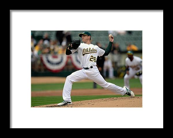 Second Inning Framed Print featuring the photograph Scott Kazmir by Thearon W. Henderson