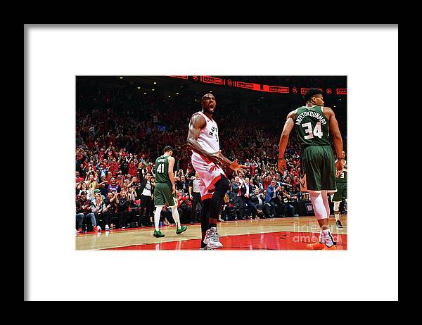 Playoffs Framed Print featuring the photograph Serge Ibaka by Jesse D. Garrabrant