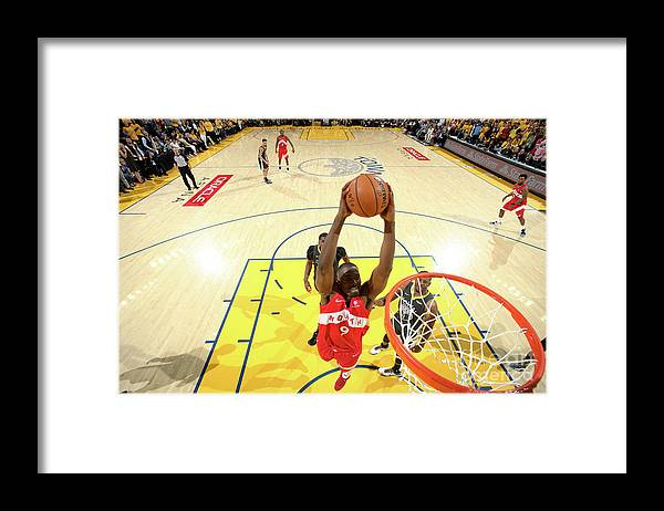 Playoffs Framed Print featuring the photograph Serge Ibaka by Nathaniel S. Butler
