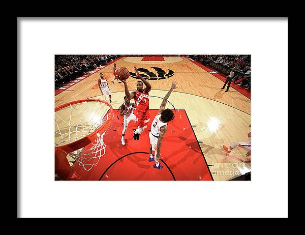 Nba Pro Basketball Framed Print featuring the photograph Serge Ibaka by Ron Turenne