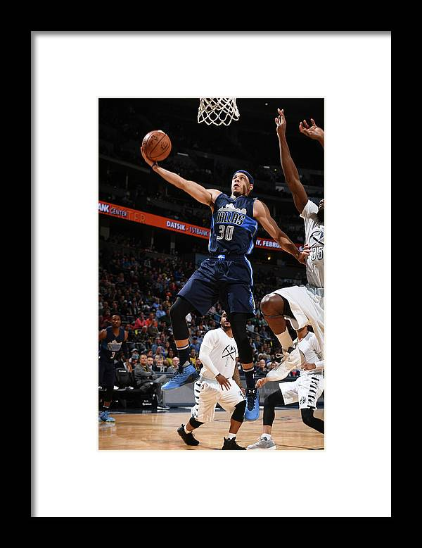 Nba Pro Basketball Framed Print featuring the photograph Seth Curry by Garrett Ellwood