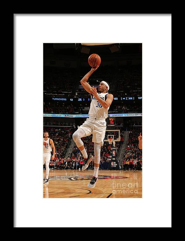 Smoothie King Center Framed Print featuring the photograph Seth Curry by Layne Murdoch Jr.