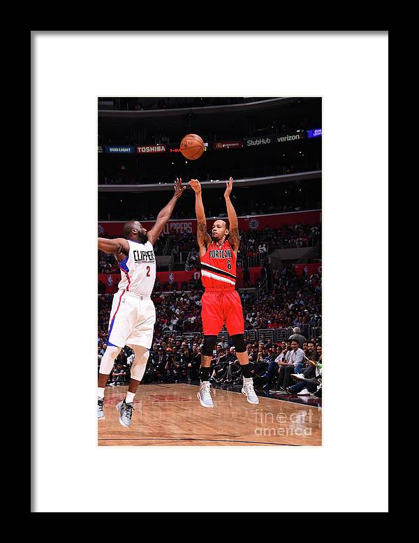Nba Pro Basketball Framed Print featuring the photograph Shabazz Napier by Juan Ocampo