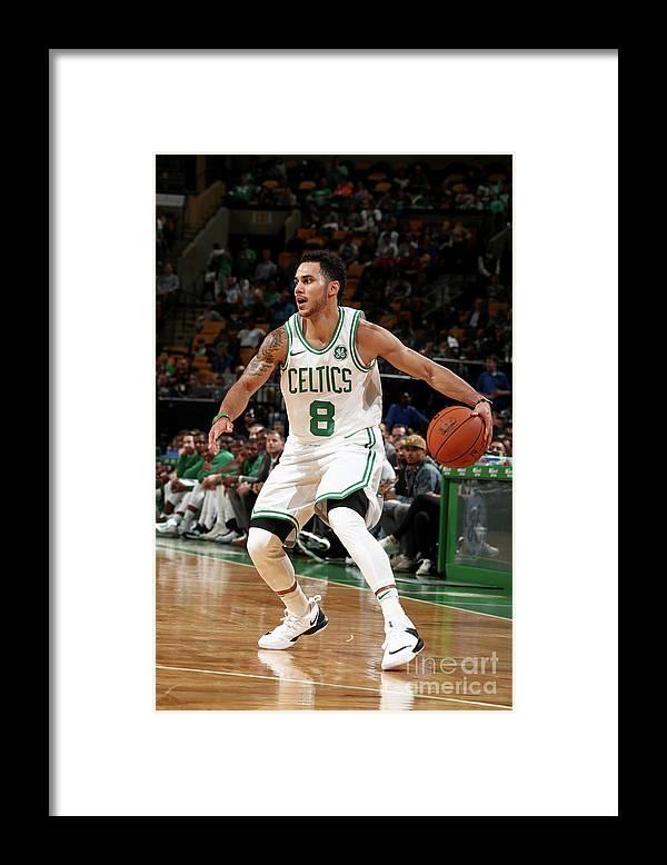 Nba Pro Basketball Framed Print featuring the photograph Shane Larkin by Nathaniel S. Butler