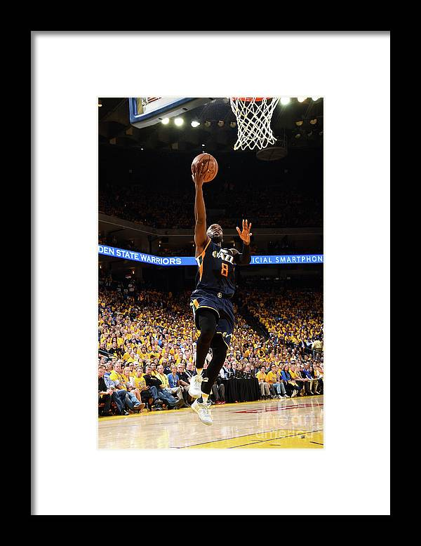 Playoffs Framed Print featuring the photograph Shelvin Mack by Andrew D. Bernstein
