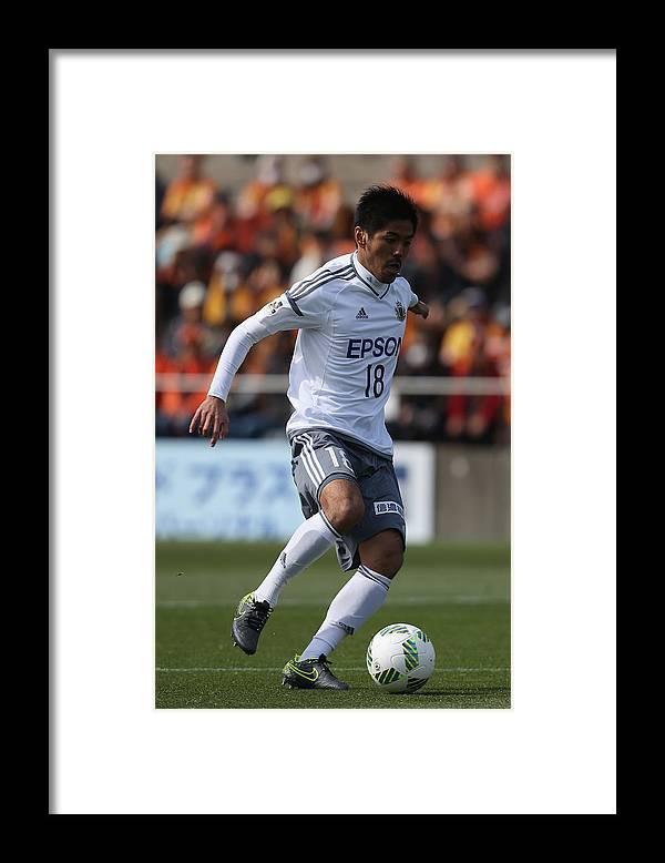 J2 League Framed Print featuring the photograph Shimizu S-Pulse v Matsumoto Yamaga - J.League 2 by Kaz Photography