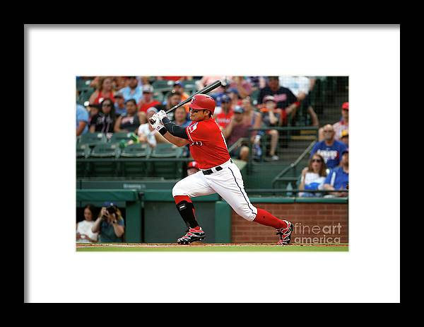 People Framed Print featuring the photograph Shin-soo Choo by Ron Jenkins