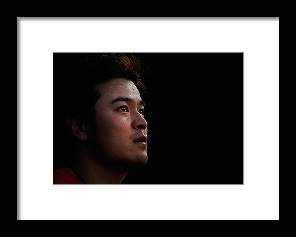 American League Baseball Framed Print featuring the photograph Shin-soo Choo by Tom Pennington