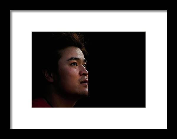American League Baseball Framed Print featuring the photograph Shin-soo Choo by Tom Pennington
