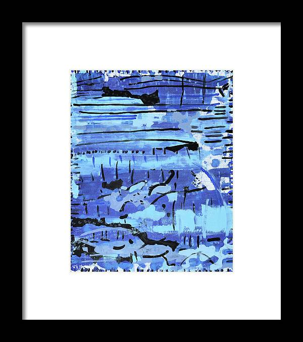 Colorado Framed Print featuring the painting Something Blue by Pam Roth O'Mara