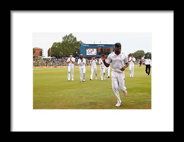 Supersport Park Framed Print featuring the photograph South Africa v England - Fourth Test: Day Three by Julian Finney
