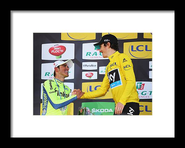 Following Framed Print featuring the photograph Stage 7 - Paris-Nice by Bryn Lennon
