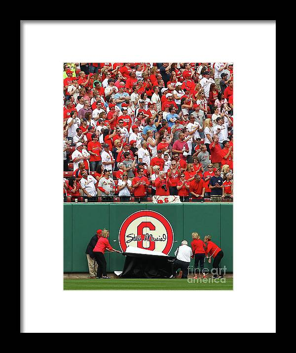 St. Louis Cardinals Framed Print featuring the photograph Stan Musial by Dilip Vishwanat