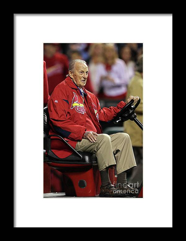 St. Louis Cardinals Framed Print featuring the photograph Stan Musial by Ezra Shaw