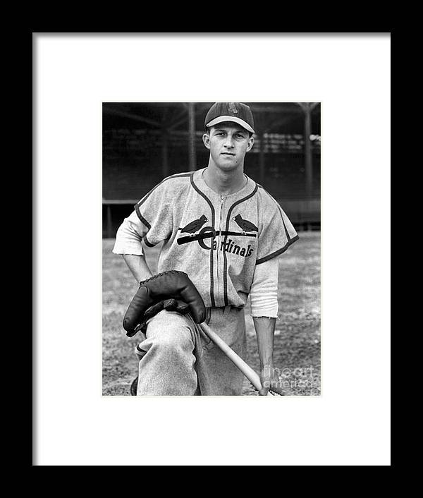 St. Louis Cardinals Framed Print featuring the photograph Stan Musial by National Baseball Hall Of Fame Library