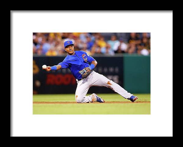 People Framed Print featuring the photograph Starlin Castro by Jared Wickerham
