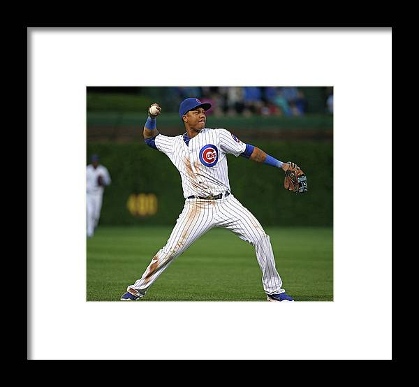 People Framed Print featuring the photograph Starlin Castro by Jonathan Daniel