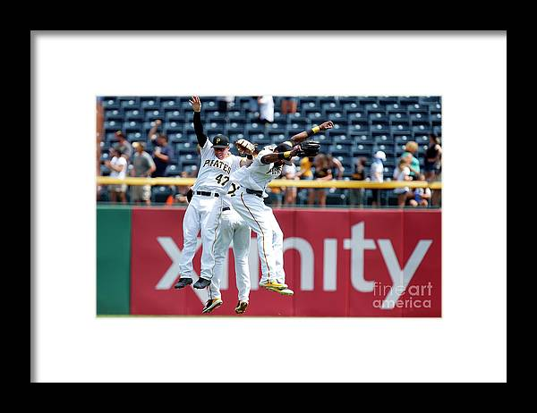 People Framed Print featuring the photograph Starling Marte and Gregory Polanco by Justin K. Aller