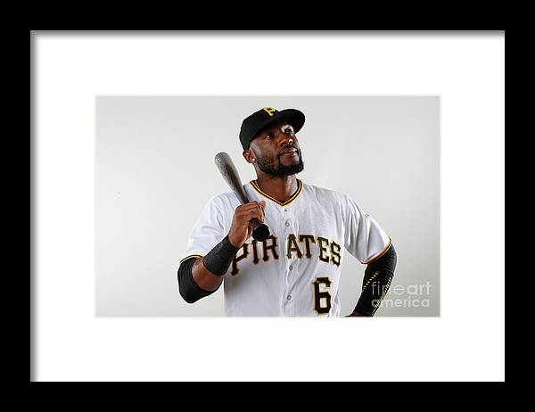 Media Day Framed Print featuring the photograph Starling Marte by Brian Blanco