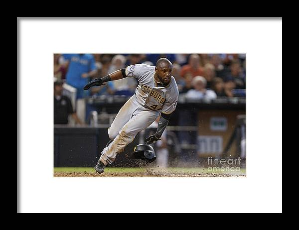 People Framed Print featuring the photograph Starling Marte by Michael Reaves