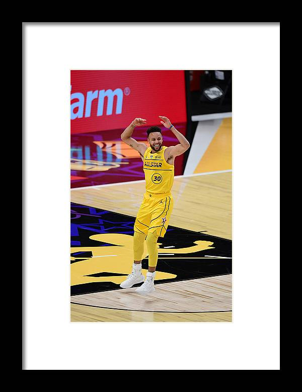 Atlanta Framed Print featuring the photograph Stephen Curry by Adam Hagy
