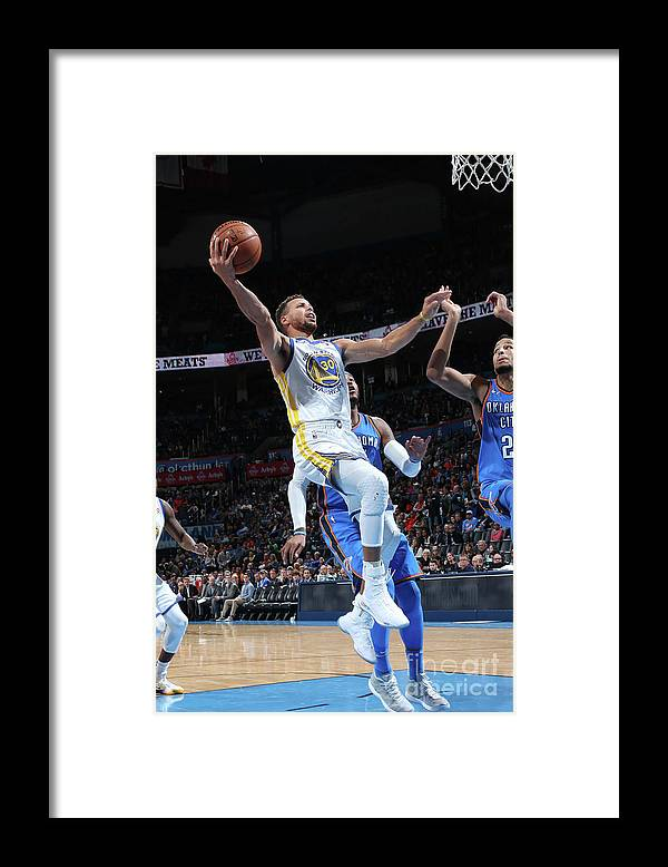 Nba Pro Basketball Framed Print featuring the photograph Stephen Curry by Layne Murdoch