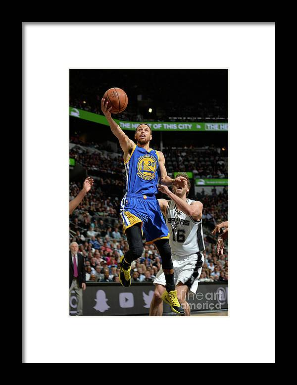 Nba Pro Basketball Framed Print featuring the photograph Stephen Curry by Mark Sobhani