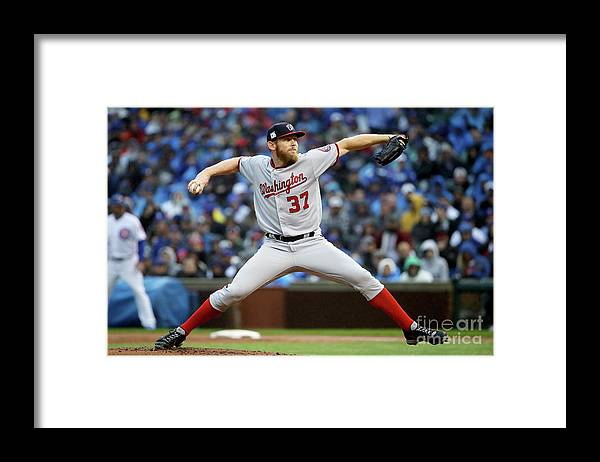 Second Inning Framed Print featuring the photograph Stephen Strasburg by Jonathan Daniel