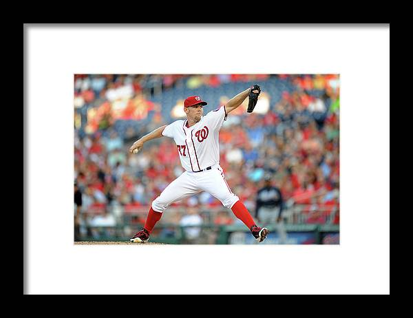 Second Inning Framed Print featuring the photograph Stephen Strasburg by Mitchell Layton