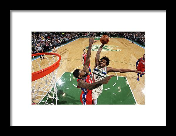 Nba Pro Basketball Framed Print featuring the photograph Sterling Brown by Gary Dineen