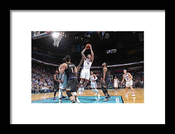 Nba Pro Basketball Framed Print featuring the photograph Steven Adams by Joe Murphy