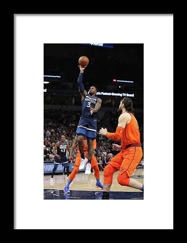 Nba Pro Basketball Framed Print featuring the photograph Steven Adams by Jordan Johnson