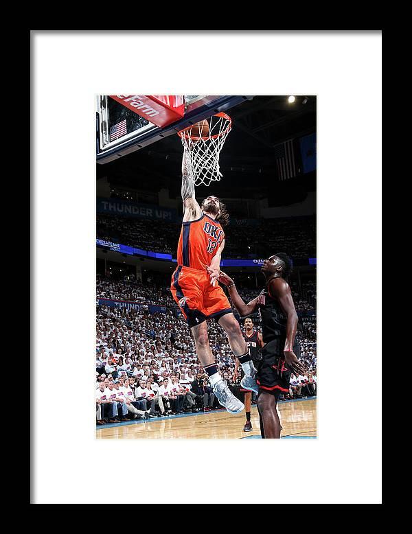 Playoffs Framed Print featuring the photograph Steven Adams by Layne Murdoch