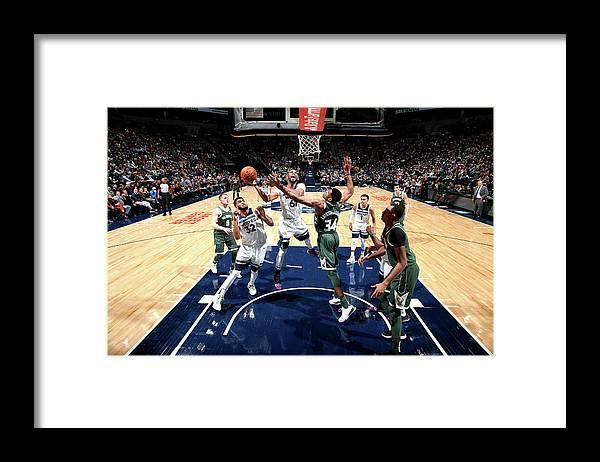 Nba Pro Basketball Framed Print featuring the photograph Taj Gibson by David Sherman