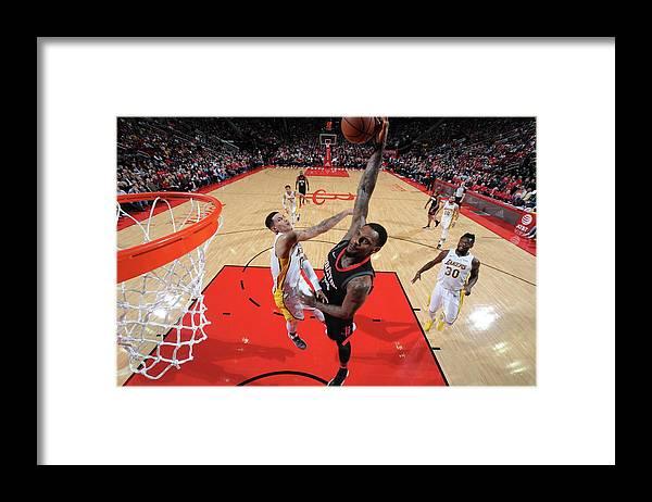 Nba Pro Basketball Framed Print featuring the photograph Tarik Black by Bill Baptist