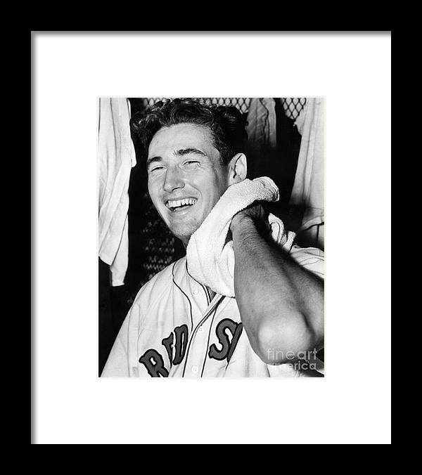 People Framed Print featuring the photograph Ted Williams by National Baseball Hall Of Fame Library