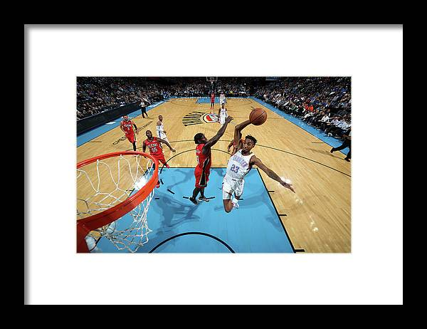 Nba Pro Basketball Framed Print featuring the photograph Terrance Ferguson by Zach Beeker